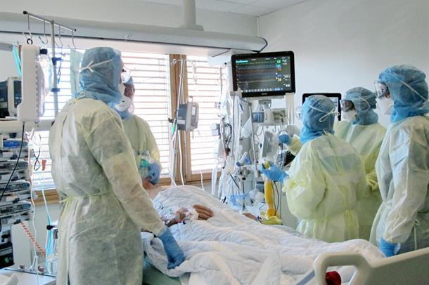 Instensivavdelingen under Corona-pandemi