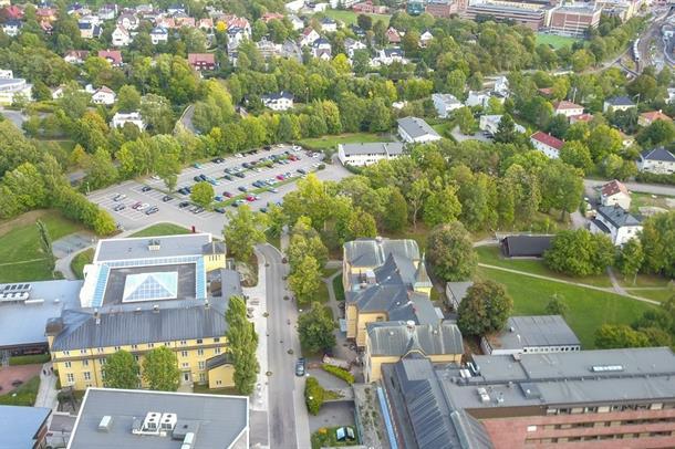 Flyfoto av Diakonhjemmets eiendom
